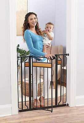 Regalo Home Accents Extra Tall Designer Baby Gate, Hardwood and Steel