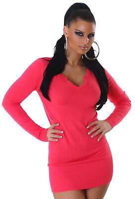 Strickkleid Pullover Kleid Pulli Einheitsgröße 34 36 38 40 apricot rot orange