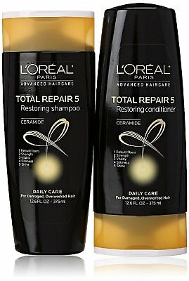 L'Oreal Total Repair 5 Shampoo and Conditioner 12.6 Ounce Each Packaging (L Oreal Total Repair 5 Restoring Shampoo)