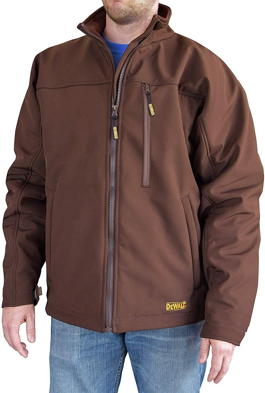 Dewalt-DCHJ060ATD1-L Heated Tobacco Soft Shell Work Jacket K