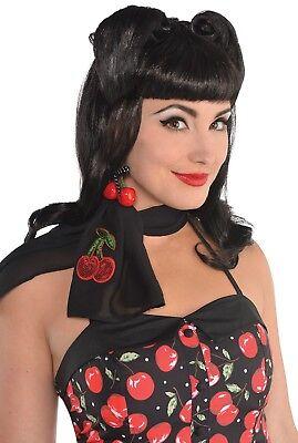 Damen 1940er Jahre Sieg Locken Vintage Kostüm Kleid Outfit Zubehör Perücke ()