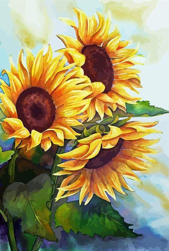 Sunflowers 5D Diamond Painting Full Drill Rhinestone Embroidery DIY Craft  Kit