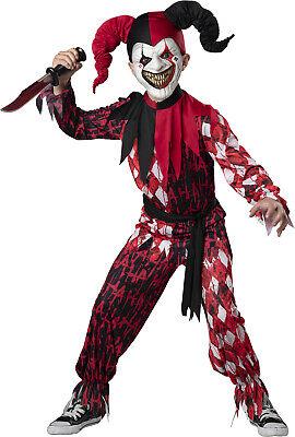 Evil Jester Scary Child Costume