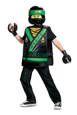 Lloyd Basic Lego Ninjago Movie Green Ninja Fancy Dress Halloween Child Costume (Green Ninja Ninjago Kostüm)