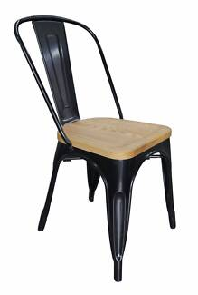 New Retro Replica Thonet Tolix Timber Black Metal Dining Chairs Richmond Yarra Area Preview