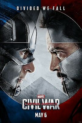 Marvel Captain America Civil War 2016 Advance Ds 2 Sided 27X40  Us Movie Poster