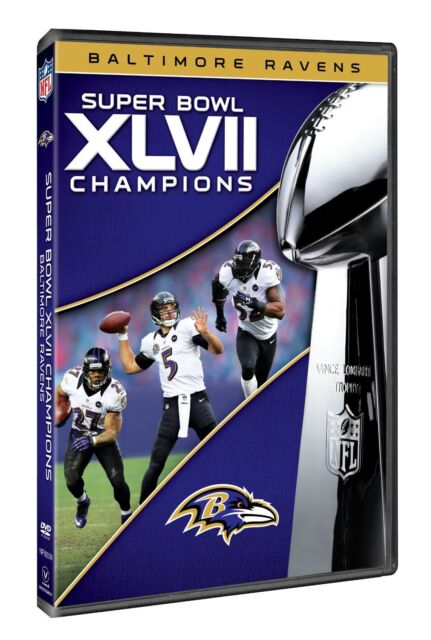 BALTIMORE RAVENS  super bowl 47 XLVII  nfl dvd NEW posted from the UK