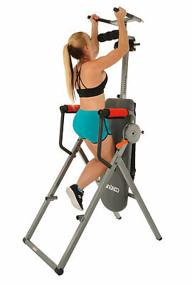 Powered Inversion Table - Conquer 6-in-1 Inversion Table Power Tower Home Gym