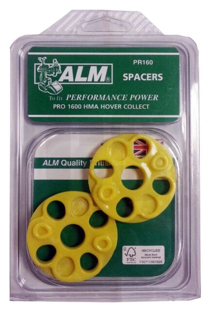 ALM PR160 Mower Spacers for B&Q, Homebase, MacAllister, Hover Collect Strimmers