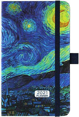 2021 Pocket Weekly Monthly Schedule Agenda Planner Refill Day-to-day Calendar