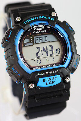 Casio 2014 Tough SOLAR World Time 5 Alarms LED Watch STL-S100H-2A NEW
