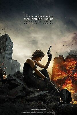 Resident Evil Final Chapter 2017 Advance Teaser Ds 2 Sided 27X40 Us Movie Poster