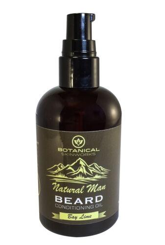 Botanical Skin Works Natural Man Bay Lime Beard Oil, All Nat