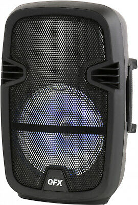 =QFX 8-in Portable Party Bluetooth Loudspeaker With Microphone and Remote