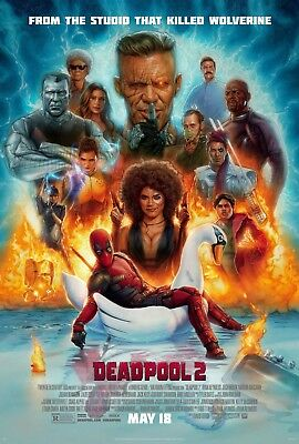 Deadpool 2 Movie Poster 24X36 Us Final Version