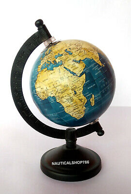 Nautical Collectible Tadble World Globe Black Base Home School & office Decor