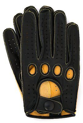 Riparo Genuine Kangaroo Leather Reverse Stitched Full-finger Driving Gloves Leather Reversible Gloves