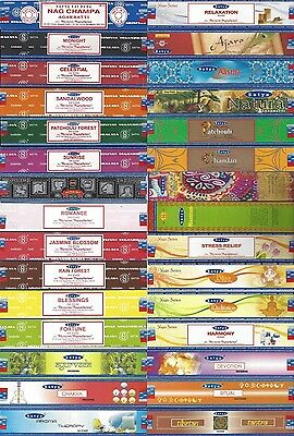 PICK & CHOOSE - Satya Nag Champa Brand - 15 GRAMS Incense Sticks Box