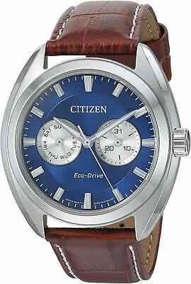 Citizen Eco-Drive Men's Paradex Day/Date Calendar Leather 44mm Watch BU4010-05L