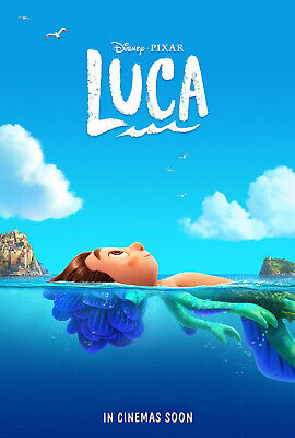 LUCA MOVIE POSTER 2 Sided RARE ORIGINAL INTL Advance 27x40 JACOB TEMBLAY DISNEY