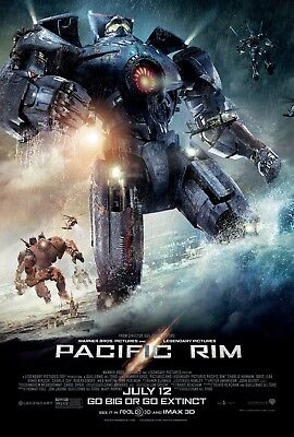 PACIFIC RIM SCI-FI Movie Poster 24 x 36 directed by Guillermo del Toro for sale  Beverly Hills