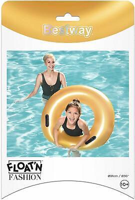Bestway 36 Gold Aufblasbar Pool Schwimmer Kinder Erwachsene Urlaub Sommer ()