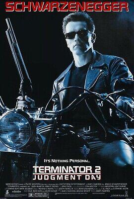 TERMINATOR 2 JUDGEMENT DAY 1991 Original DS 2 Sided US One Sheet Movie Poster