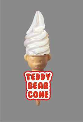 ICE CREAM VAN STICKER - Teddy Bear Cone