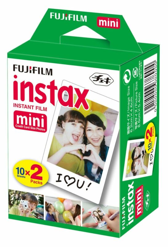 Fujifilm Instax Mini Film Twin Pack (20) fits Fuji 11 9 8 7S 25 Instant Camera