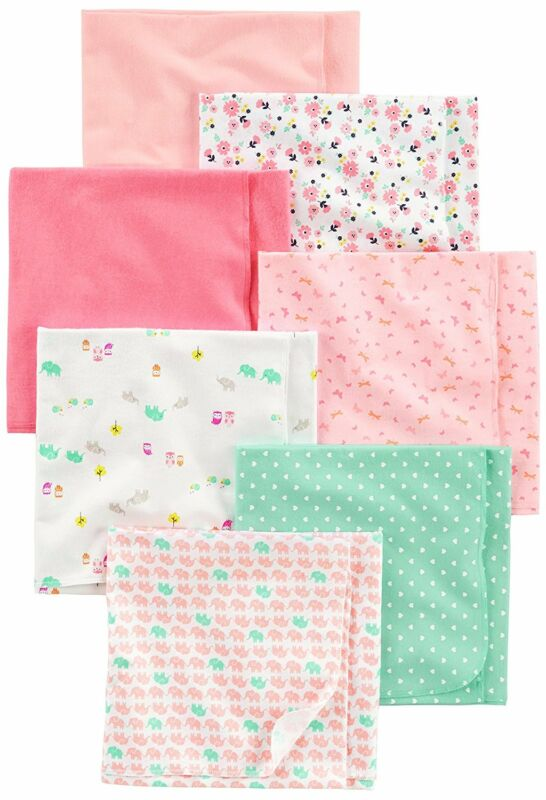 Simple Joys by Carter's Baby Girls' 7-Pack Flannel Receiving