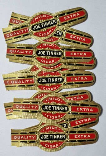 Joe Tinker Cigar Band Chicago Cubs From A Hoard Find