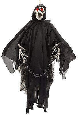 Glowing Skeleton - Prextex Animated Skeleton Ghost Halloween Decoration with Glowing Red Eyes- 20''