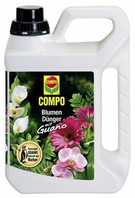 Compo Blumendünger mit Guano 5 Liter Blumen Dünger Flüssigdünger Pflanzendünger
