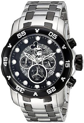 Invicta 23767 Disney Limited Edition Men's 48mm Chronograph Stainless Black Dial
