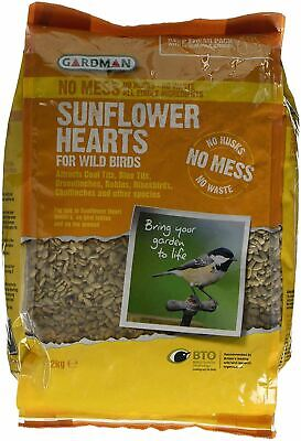 2Kg Premium Sunflower Hearts Bakery Grade Garden Bird Seed Wild Bird Food