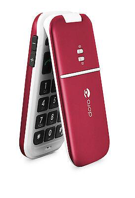 Doro PhoneEasy 410 (Unlocked) - Burgundy - GSM Carriers Only on Rummage