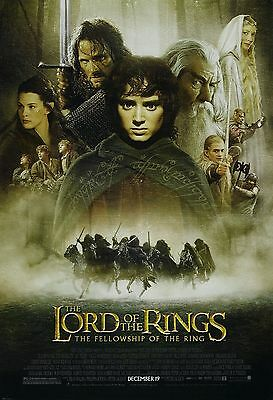 - THE LORD OF THE RINGS: THE FELLOWSHIP OF THE RING  2001  ORIGINAL MOVIE POSTER