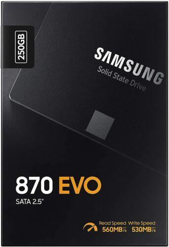 SAMSUNG 870 EVO 250GB SSD 2.5 Inch SATA III Internal (MZ-77E250B/AM) New