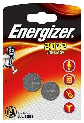 Energizer Pile Bouton CR2032  Pack de 2 Coin Cell Knopfzelle CR 2032 ()