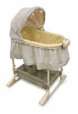 Bily 2-in-1 Bassinet Bah Bah Baby Rocking Cradle Newborn Infant Crib Nursery