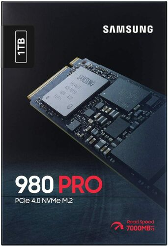 Samsung 980 PRO 1TB SSD PCIe 4.0 x 4 M.2 2280 Internal Gaming Solid State Drive