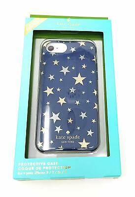 Kate Spade Protective Hard Shell Case for iPhone 7 & iPhone 8 Navy Silver Stars