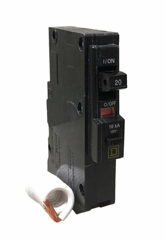 SCHNEIDER ELECTRIC Miniature Circuit Breaker 120-Volt 20-Amp QO120EPD Switch Not