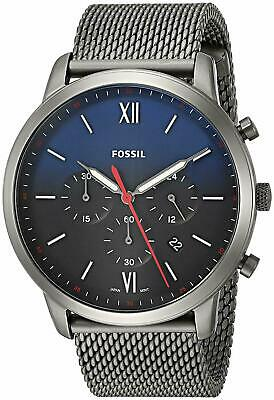 Fossil Men's 44mm NEUTRA CHRONO SMOKE STAINLESS MESH WATCH FS5383 NEW!