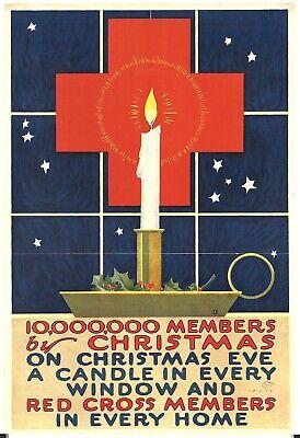 homeware decor 10,000,000 members by Christmas 1918 world war propaganda poster ()