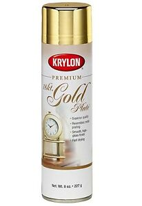 about krylon 18 kt gold plate premium metallic spray paint 8 oz. Black Bedroom Furniture Sets. Home Design Ideas