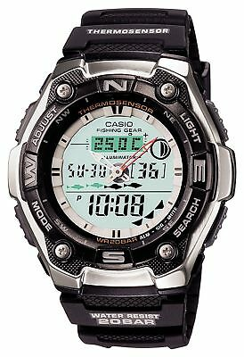 Casio Aqw 101 1A Fhising Gear Tide Graph   Moon Data Original Mens Watch Aqw 101