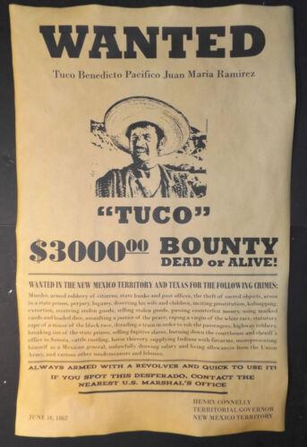 BIG 11 x 17 Tuco Ramirez Wanted Poster, Good Bad Ugly, movie, western