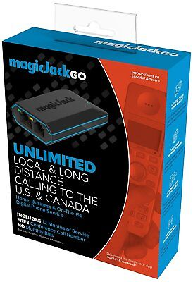 Magicjack Go Digital Phone Service | Includes 12 Months of Free Service | New