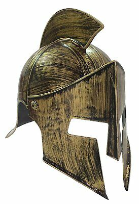 Medieval Iron Knight Spartan Helmet Gold Bronze Roman Warrior Greek 300 - Spartan Helmet Costume